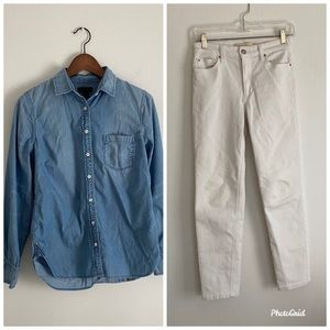 Bundle offer! J Crew Always Chambray & White Jeans